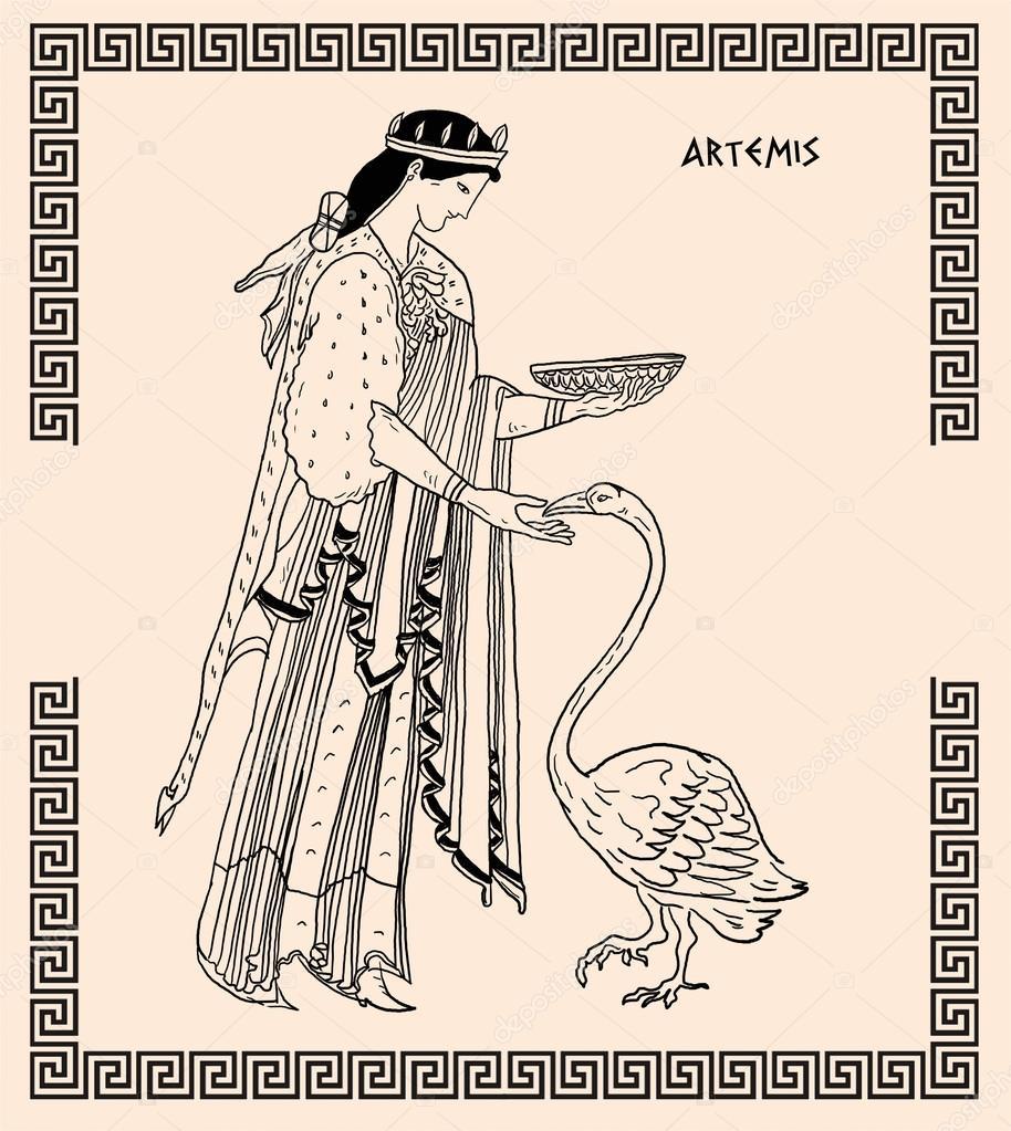 oude griekse godin artemis stockfoto 169 pavila1 12059998