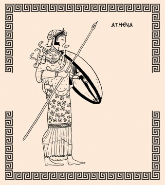 Old greek goddess athena