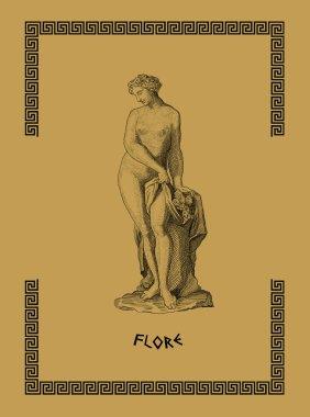 Old greek goddess flora