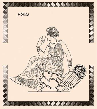 Old greek goddess mousa
