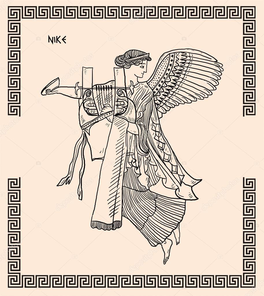 old greek goddess nike u2014 stock photo pavila1 12068526