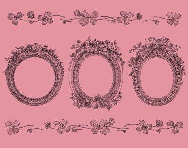 Frames set illustration