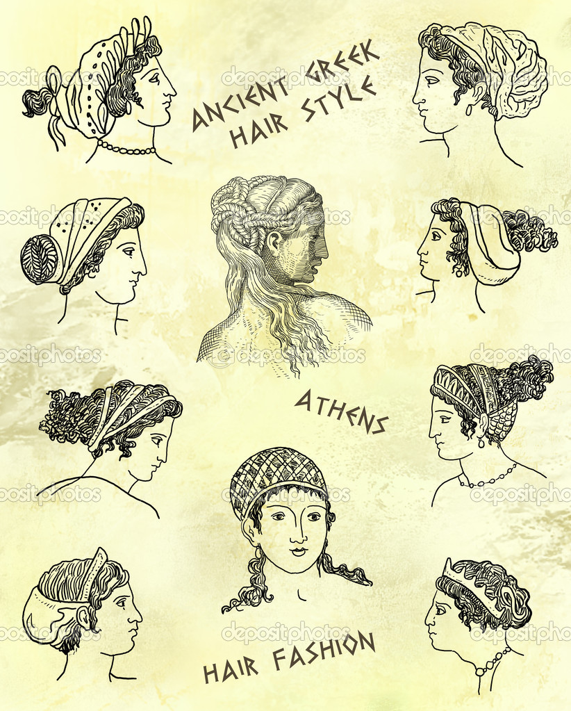 Antike Griechische Frisur Stockfoto C Pavila1 28801239