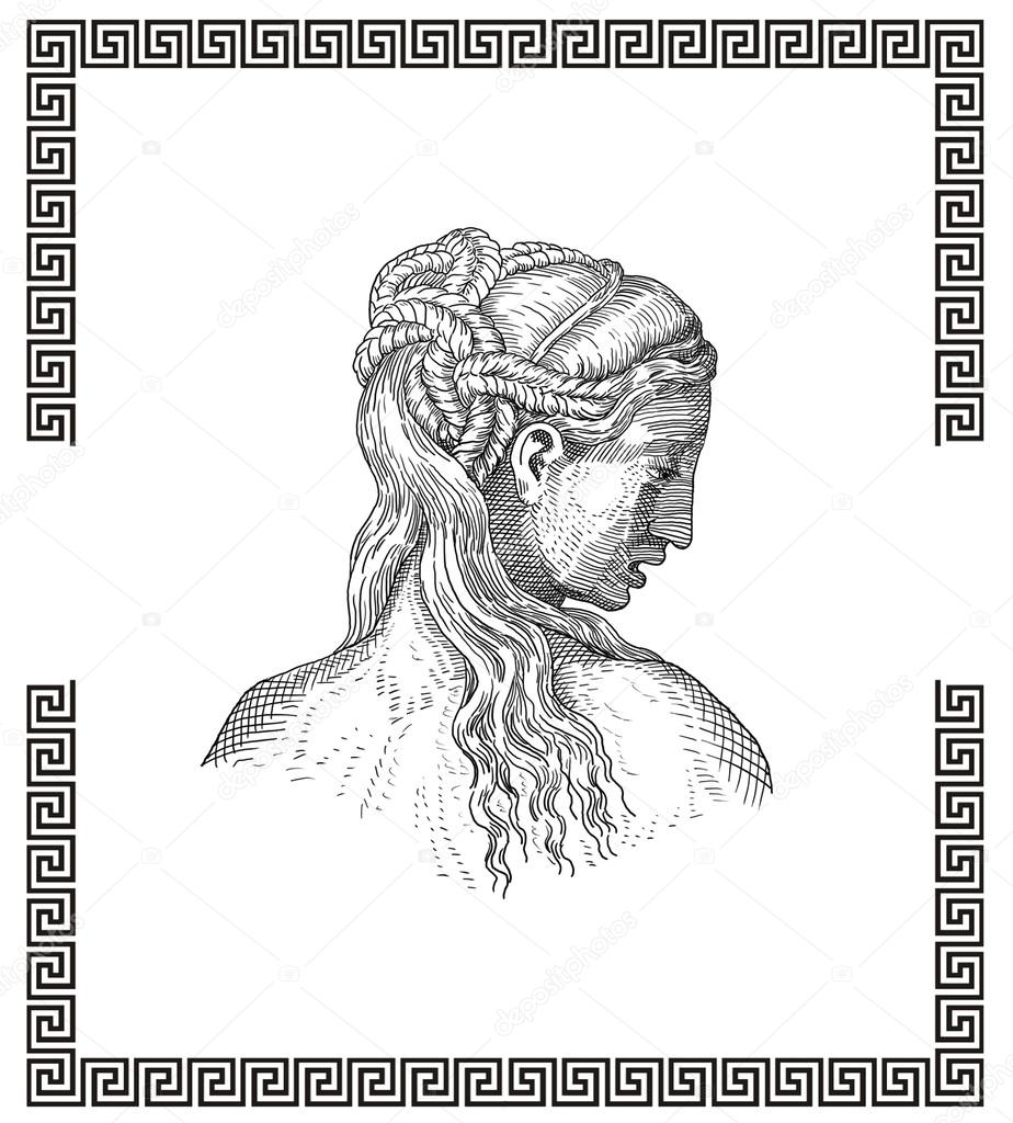 Antike Griechische Frisur Stockfoto C Pavila1 28803147