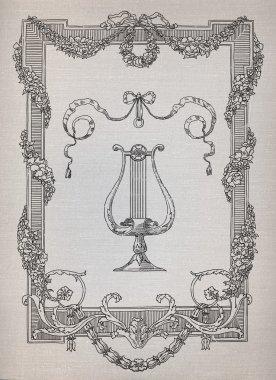 Silhouette lyre illustration