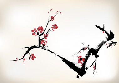 Blossom painting stock vector