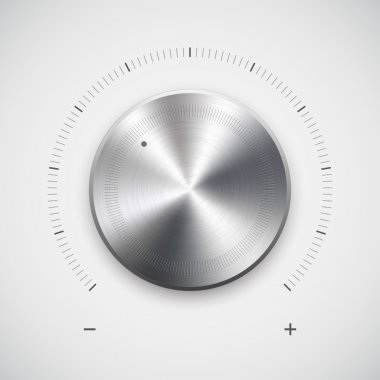 Volume button (knob) with metal texture (chrome)