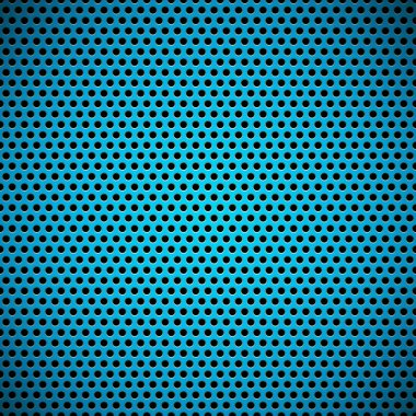 Blue Seamless Circle Perforated Carbon Grill Texture