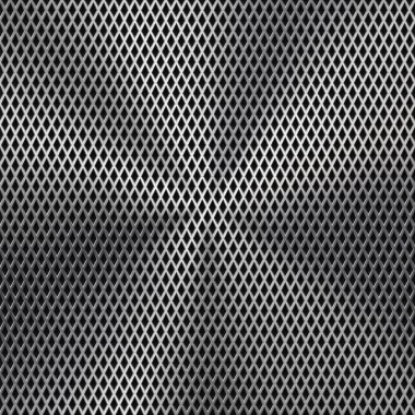 Metal Background with Seamless Perforated Texture