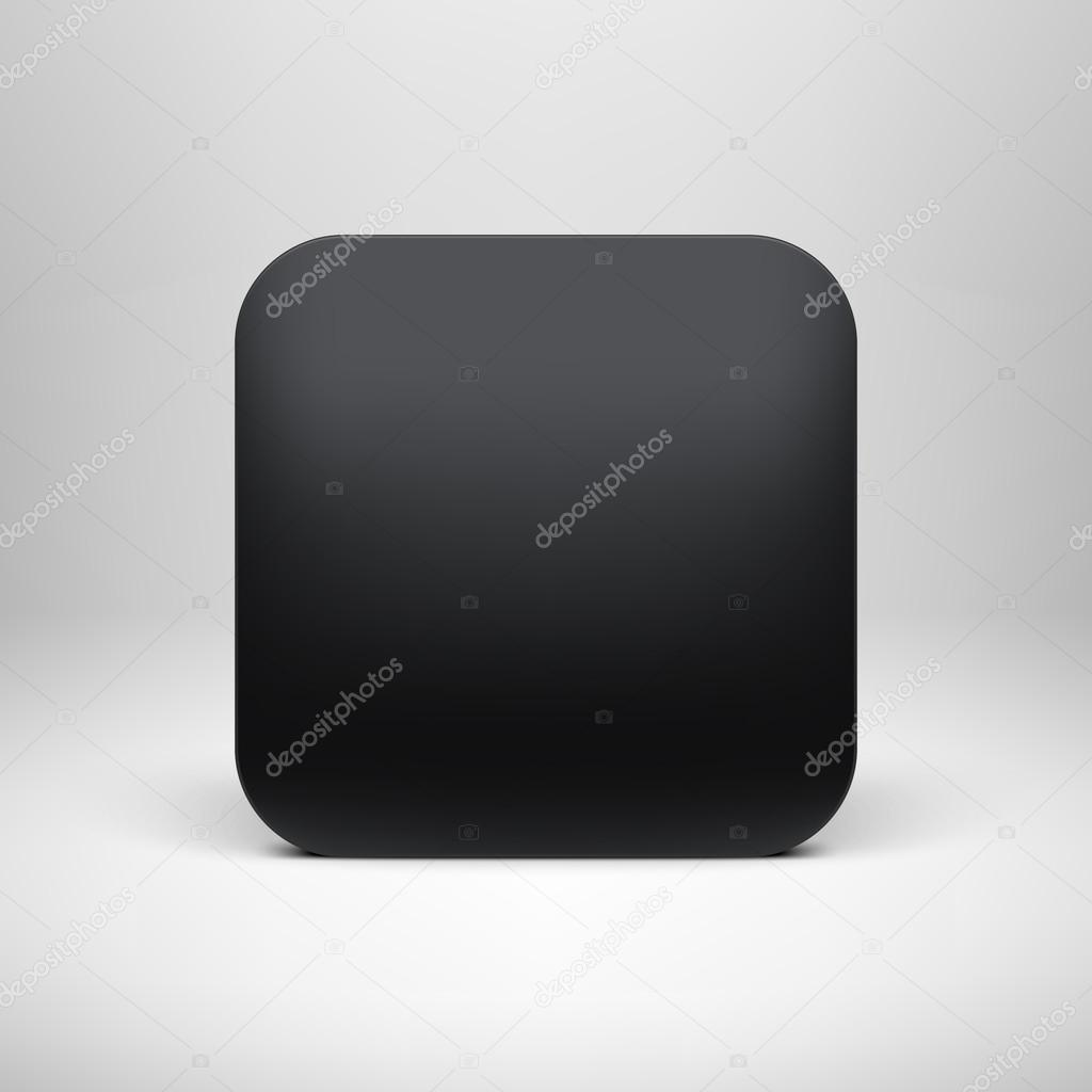 plantilla de icono de app en blanco negro tecnología — Vector de ...
