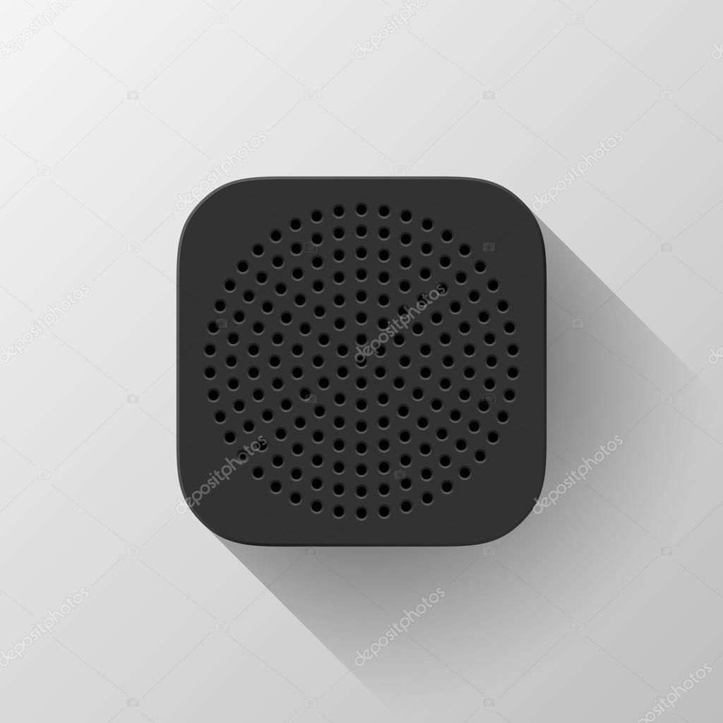 plantilla de icono de app tecnología negro — Vector de stock ...