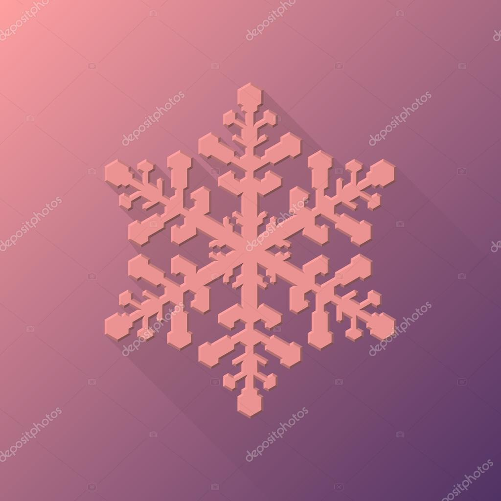 Pink Abstract Christmas Snowflake Sign