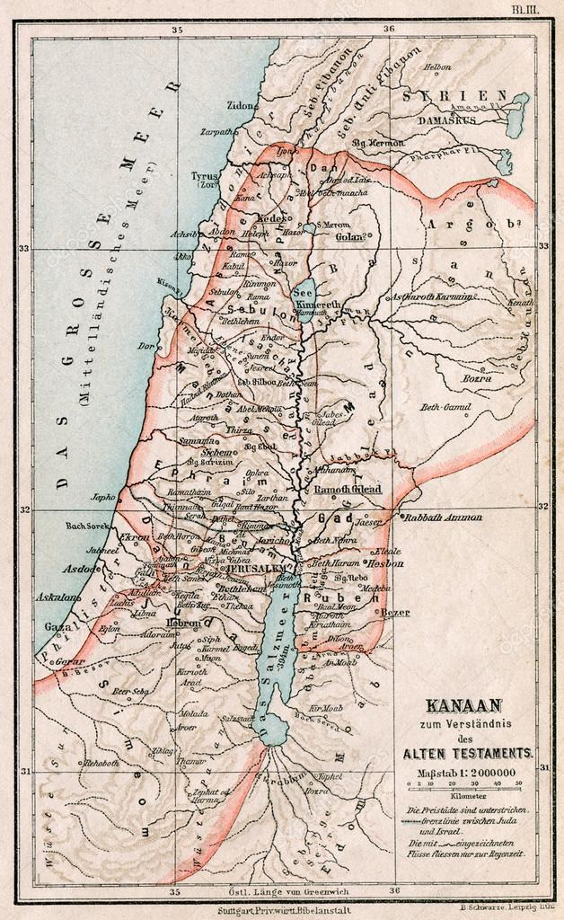 Map Of Israel And Palestine The Bible The Old Testament Germany