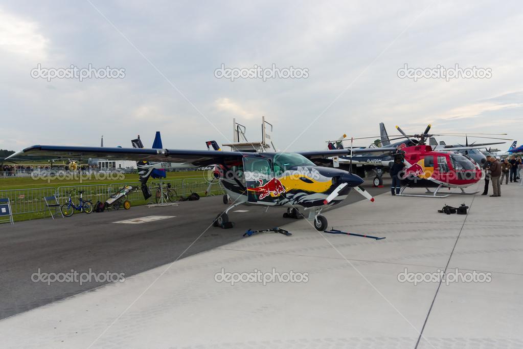 BERLIN - SEPTEMBER 14: Light aircraft Cessna 337D Skymaster