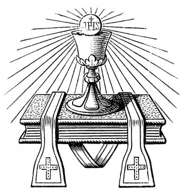 The emblem of the priest. The Roman Catholic Church. Publication of the book