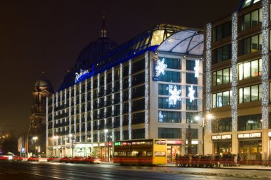 The Radisson Blu Hotel in the Christmas illuminations