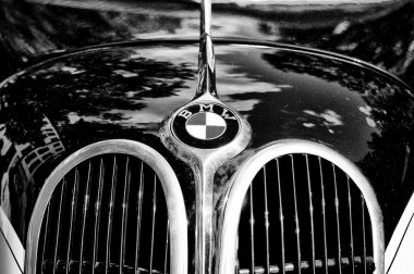 The emblem of BMW (Black and White)