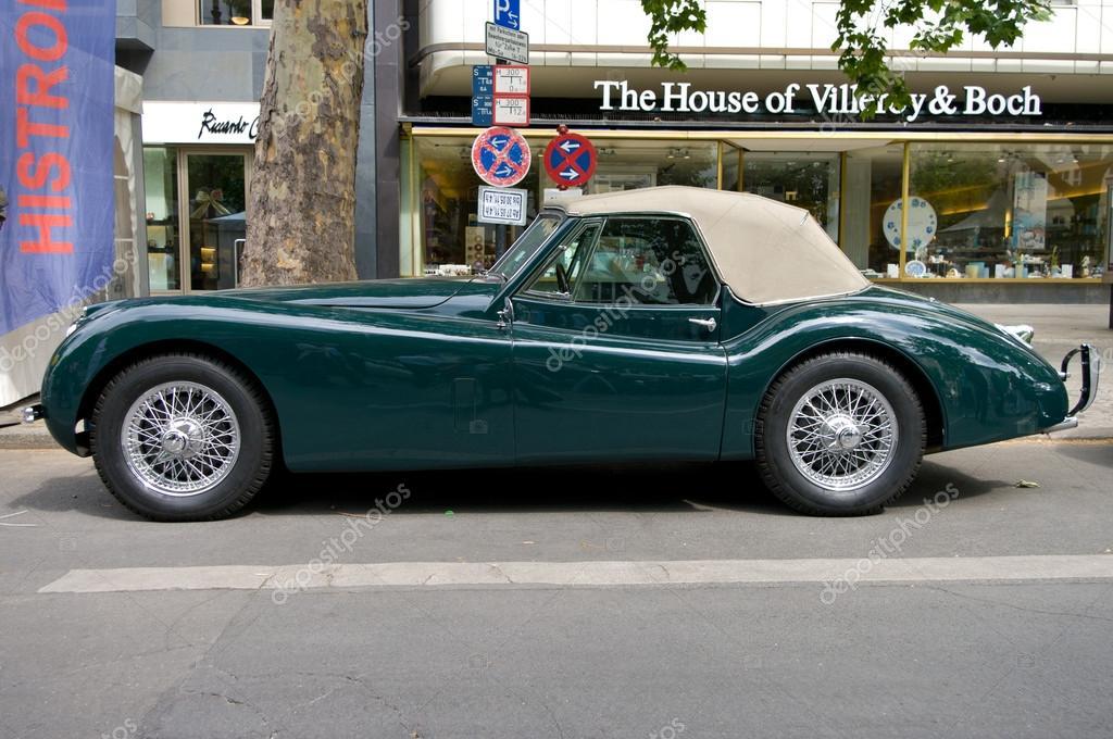 Carro Jaguar Xk 120 Dhc U2014 Fotografia De Stock