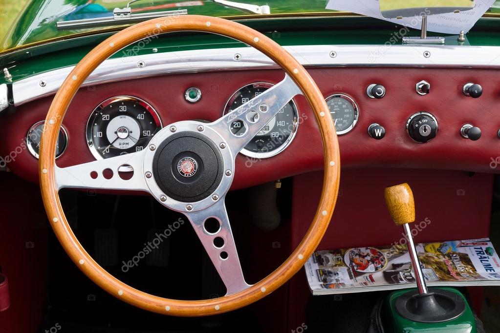 Taksi Iki Kapılı Cabrio Spor Araba Austin Healey Sprite Stok