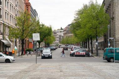 Street in the historic district of Berlin - Gendarmenmarkt