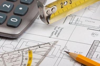Building plans concept
