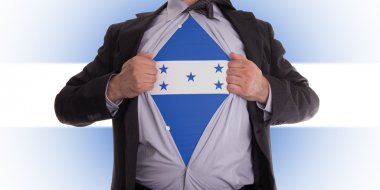 Business man with Honduras flag t-shirt
