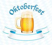 Oktoberfest banner s korbelem piva