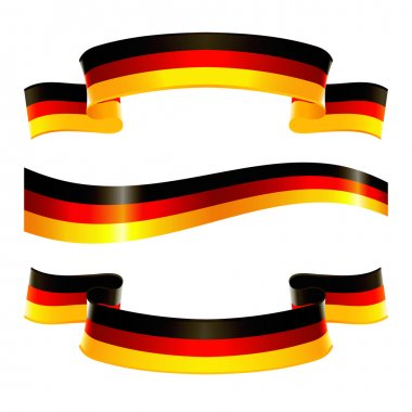 Banners of german national colors