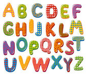 Fotografie Colorful alphabet letters