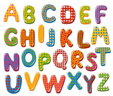 Colorful alphabet letters