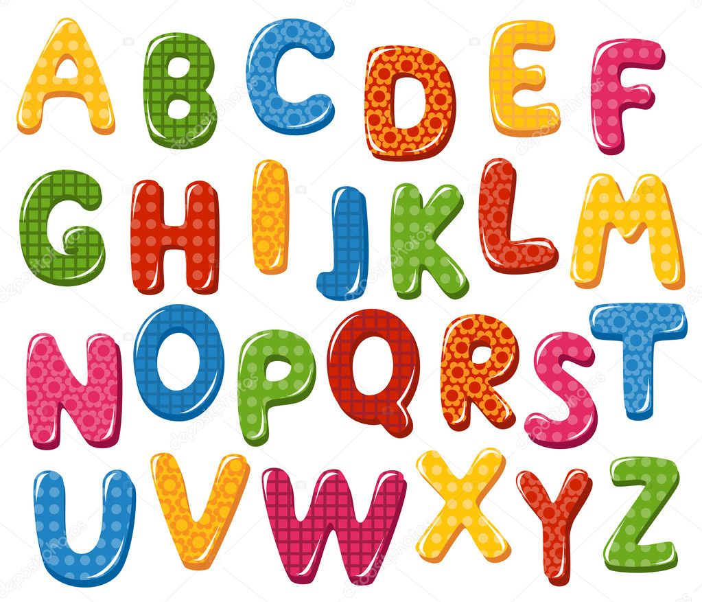 colorful alphabet letters stock vector tatus 34922069 rh depositphotos com vector letters grunge vector letters illustrator