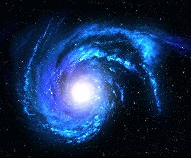 Blue spiral galaxy.