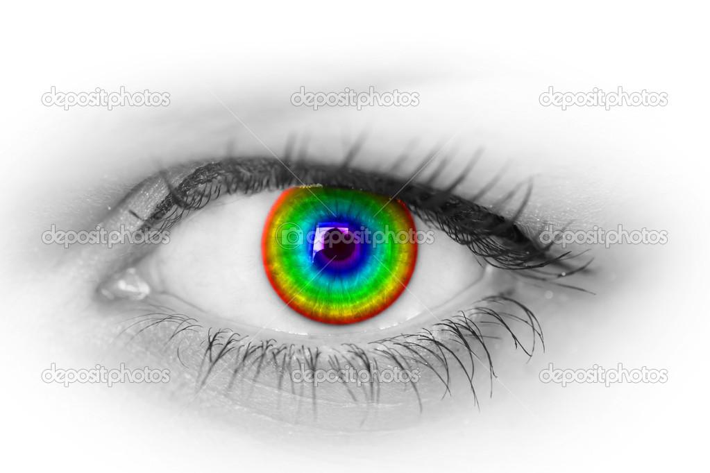 Bunte Augen