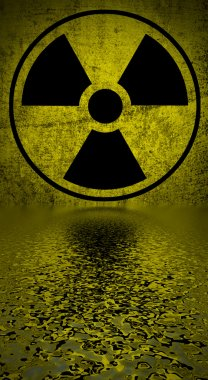 Radiation hazard symbol.