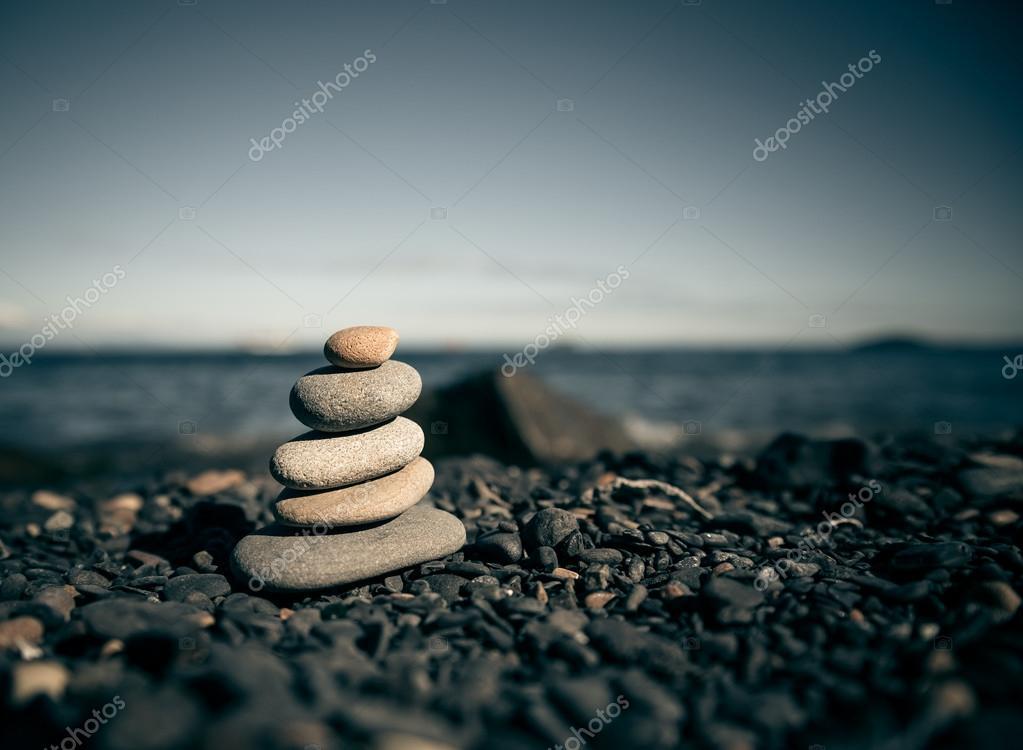Stack of zen stones.