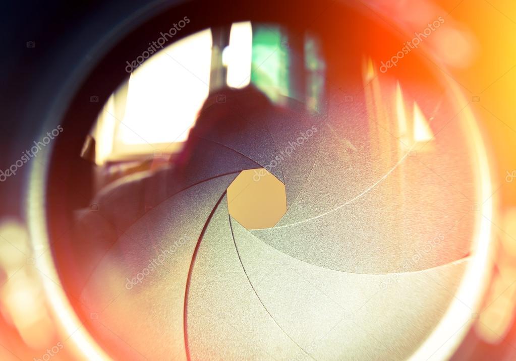 die Membran von einem Kamera-Objektiv-Blende — Stockfoto © eevl ...