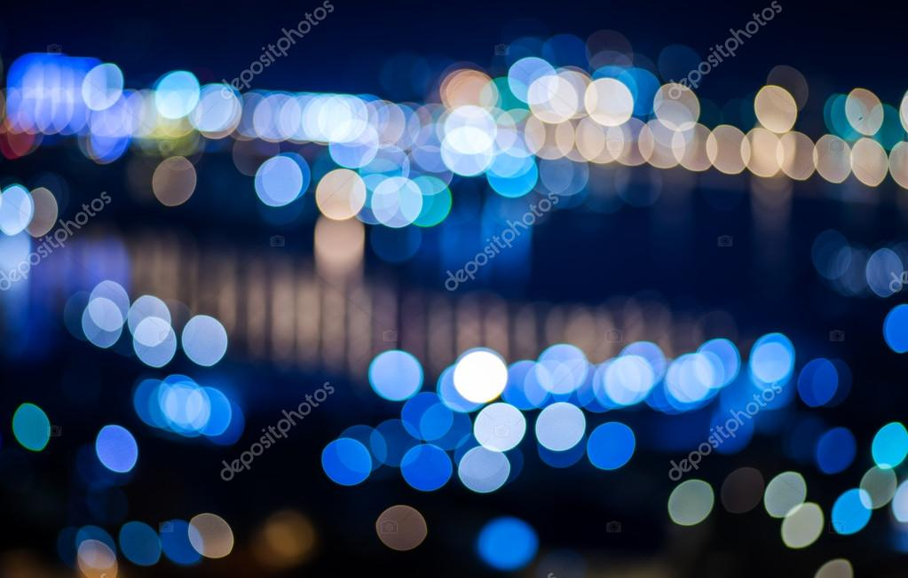 City lights background.