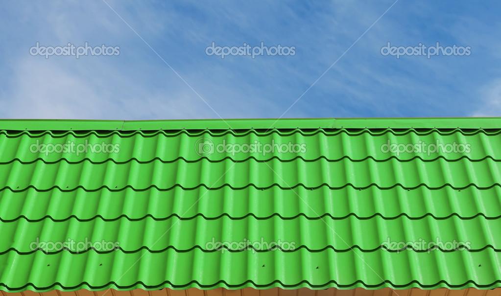 Vaak groene dakpannen — Stockfoto © eevl #46734971 PH29