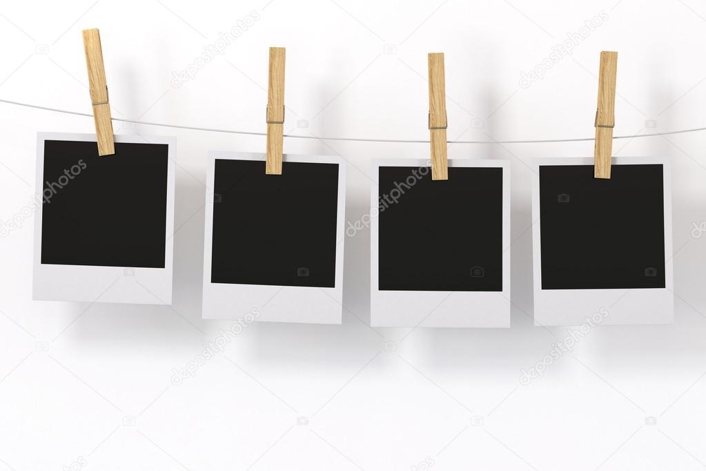 cadre photo isol avec pince linge photographie chromatika2 12634395. Black Bedroom Furniture Sets. Home Design Ideas