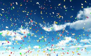 Colorful Confetti in Sky