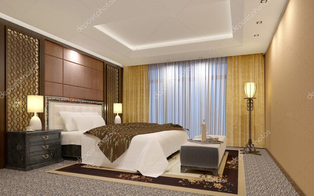Slaapkamer Hotel Chique : Chique luxe biege hotel slaapkamer u stockfoto el doctore