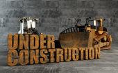 Fotografie im Bau mit Planierraupe und Lader