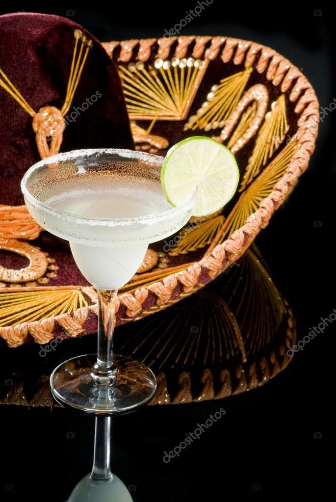 Sombrero and Margarita Cocktail