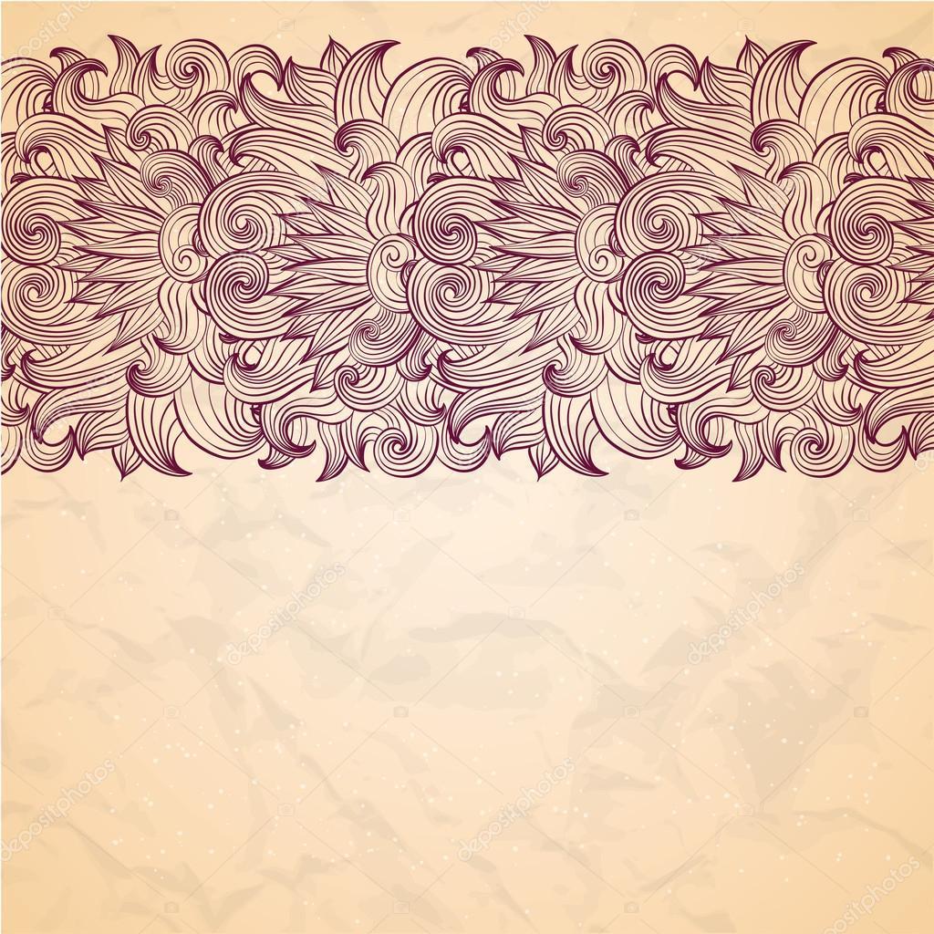 Blumen paisley Grenze — Stockvektor © Lunarus #32123771