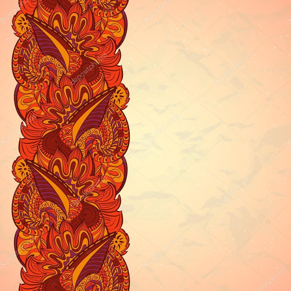 Orientalisches paisley Grenze — Stockvektor © Lunarus #32137869