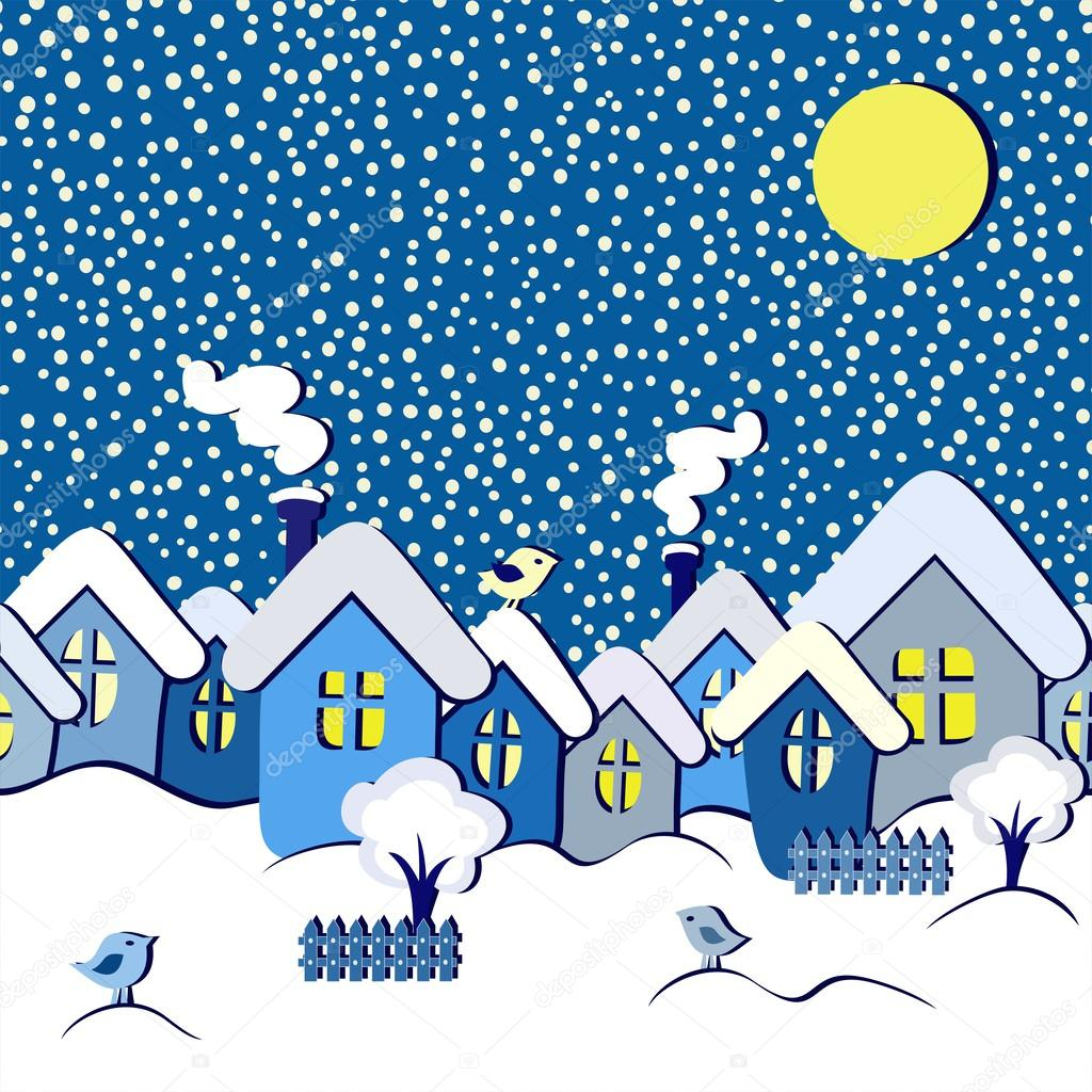 Kış Mevsimi çizimleri