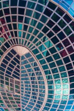 Picturesque bridge, observation deck, restaurant ellipsoid. Fragment.