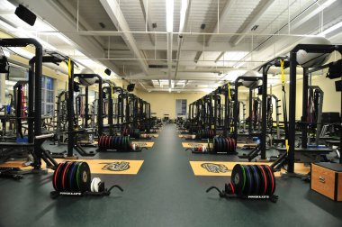 College gym-49ers football team