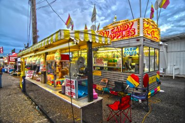 Fair Corn Dogs, part of the midway at state fair