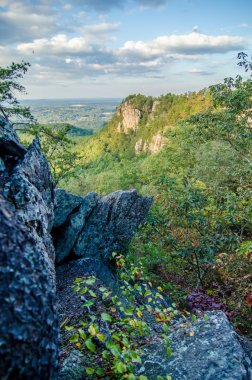 beautiful aerial landscape views from crowders mountain near gas